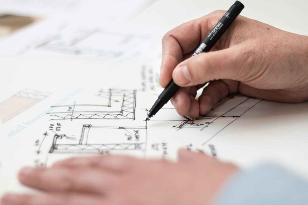 Blueprint Planning - installing metal roofing on new construction